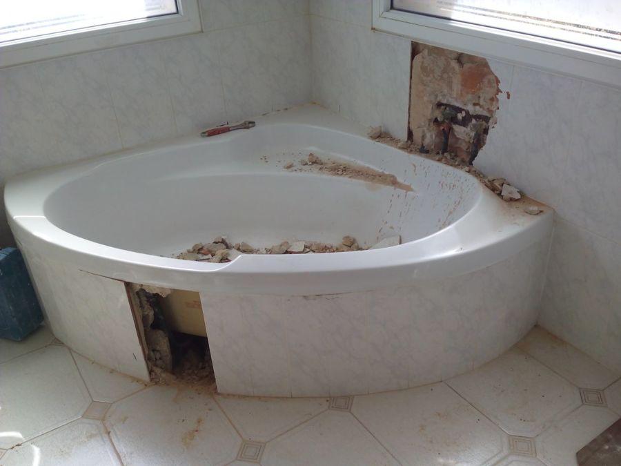 Cambio ba era por plato en obra de sra rosa ana comas - Banera plato ducha ...