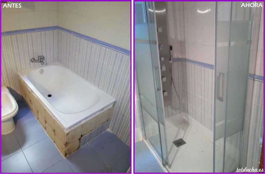 Cambio de ba era por plato de ducha en valencia ideas - Convertir banera en ducha ...