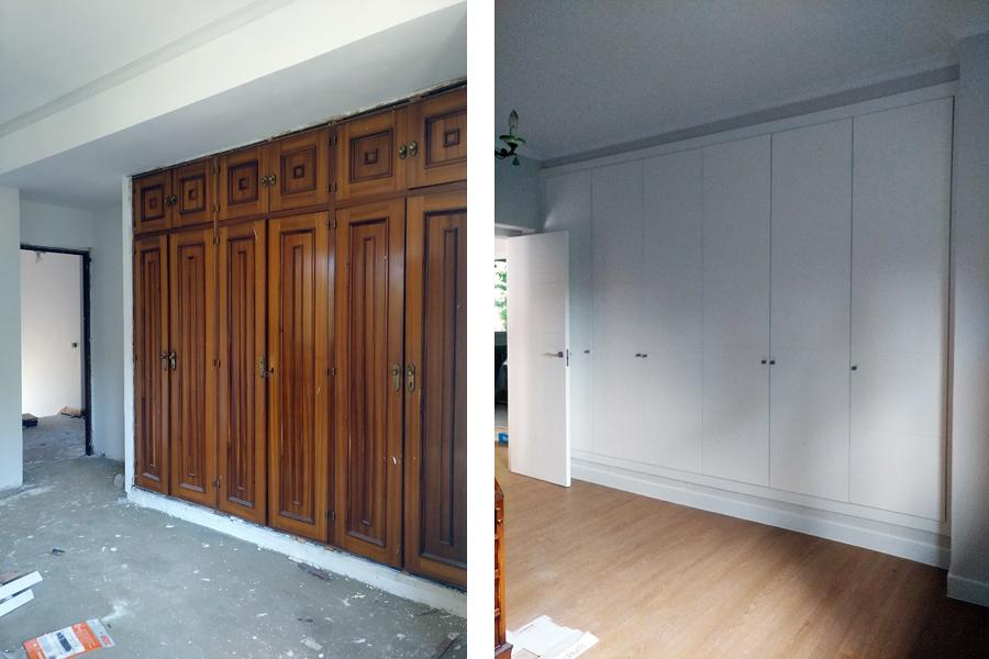 Cambio de puertas de paso y frentes de armarios