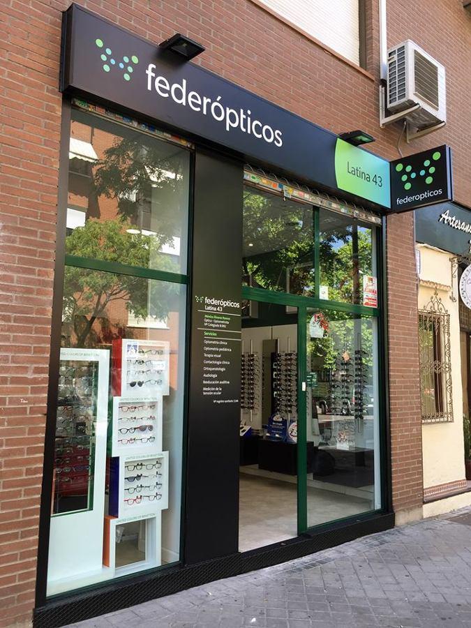 Cambio imagen corporativa FederOpticos exterior - ROTUSIL - Artes Gráficas