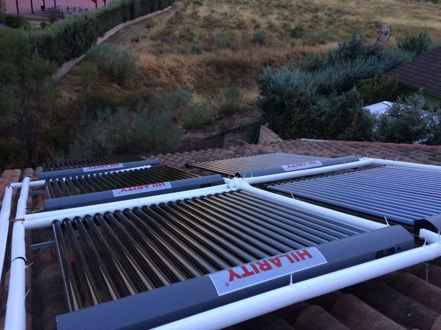 Campo de captadores solares térmicos.