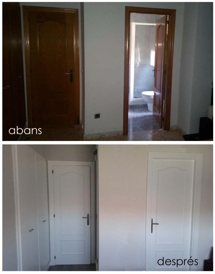 Canvi amb el nou paviment i lacat de portes