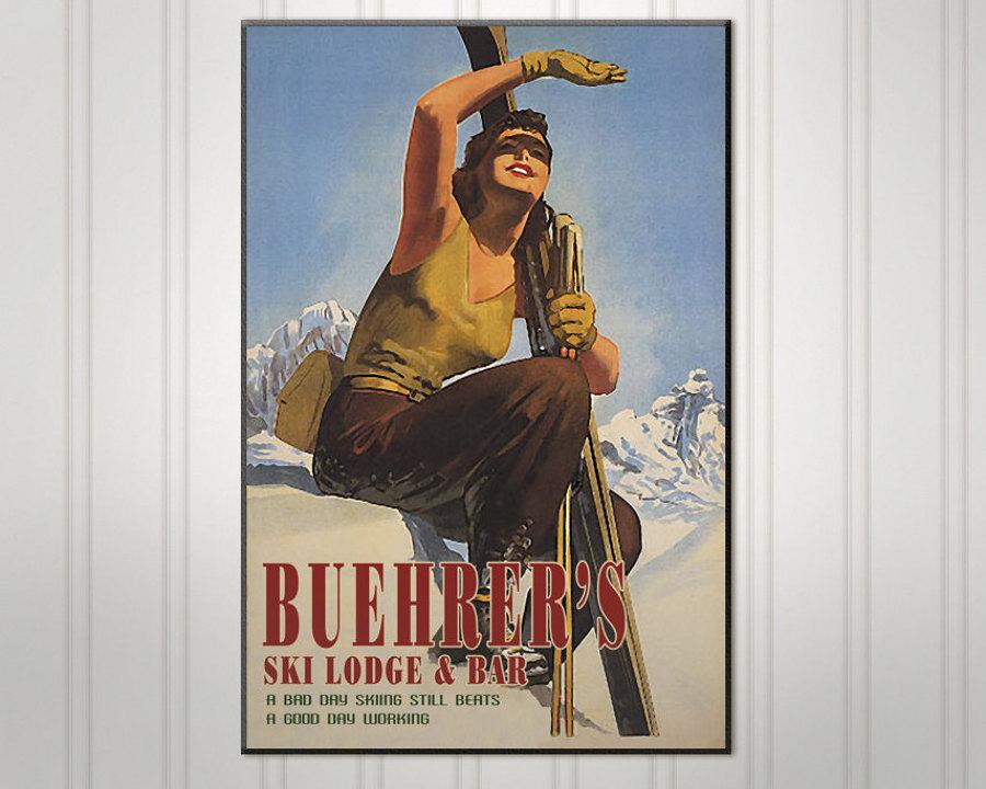 cartel de esquí