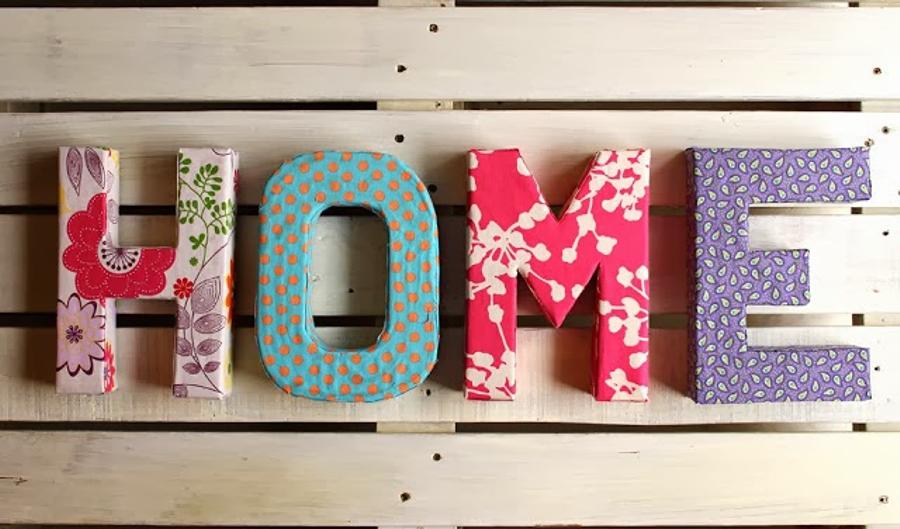 Decora con cart n y dale a tu hogar un toque ecofriendly - Como hacer letras decorativas ...