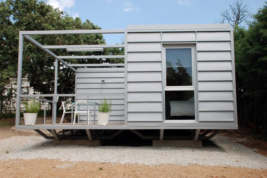 Foto casa 3x3 vista lateral y porche de neocasas espacio - Casas prefabricadas en zaragoza ...