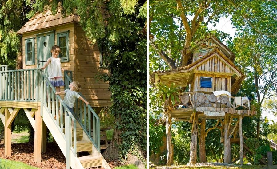 casita árbol para niños pequeños