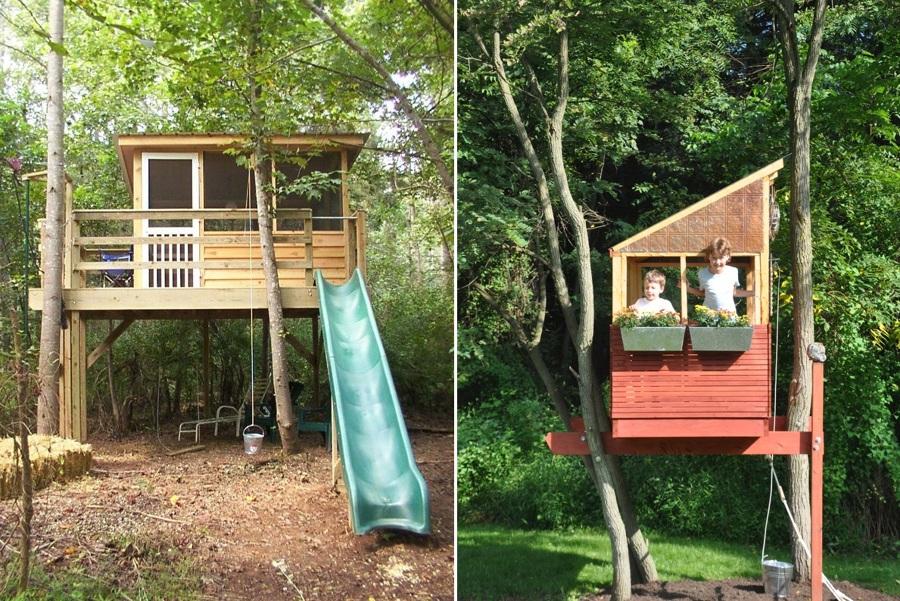 Vuelve a ser un ni o y construye tu propia casa del rbol for Casa de jardin ninos