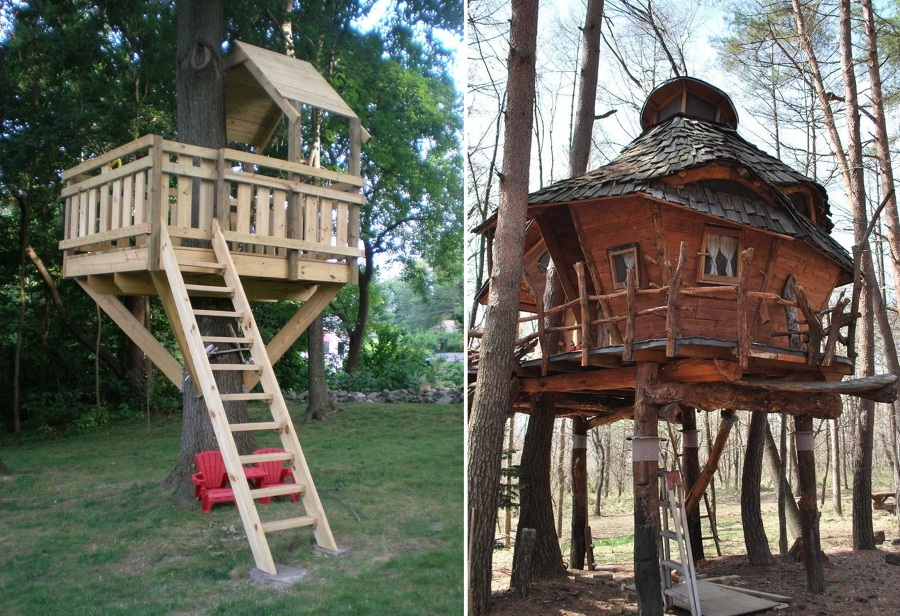 casa árbol estilo góticco