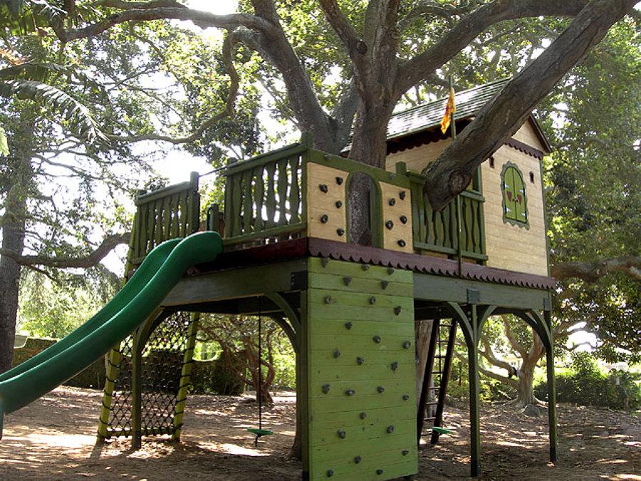 Foto casa rbol ni os en color verde de marta 910595 for Casa en el arbol cuenca