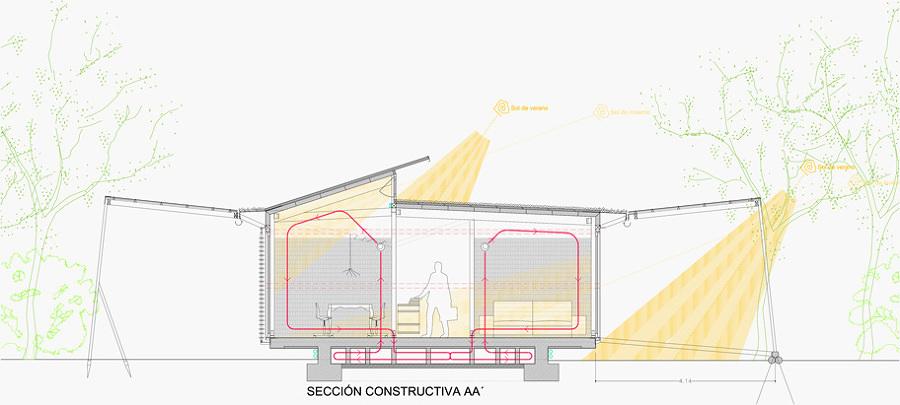 Casa con aprovechamiento solar