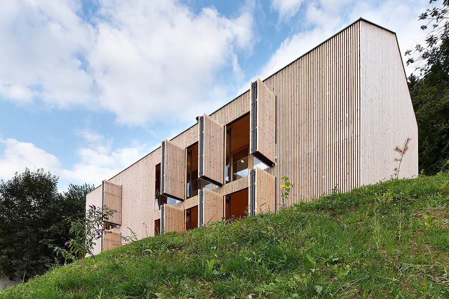 Casa con bambú