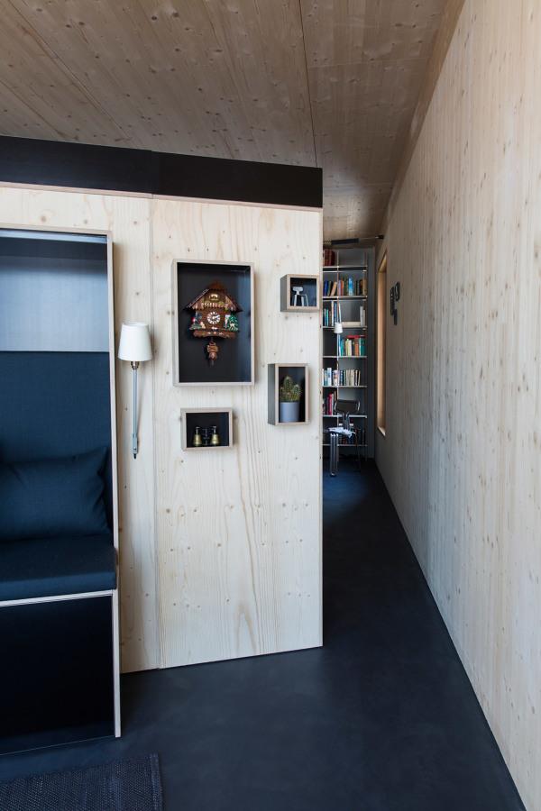 Casa con detalles de madera