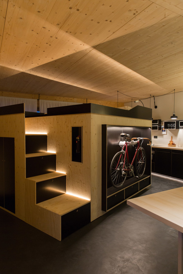 Casa con techos de madera