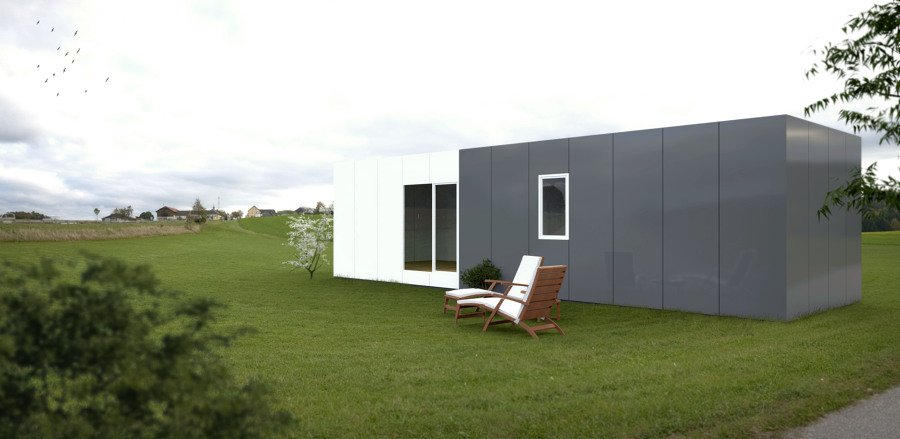 cube basic de 50 m2 ideas construcci n casas prefabricadas. Black Bedroom Furniture Sets. Home Design Ideas