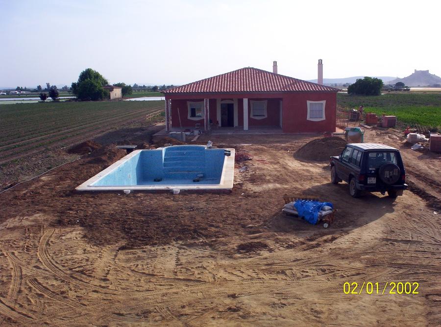 Foto casa de campo con piscina de construcciones olivares for Fotos de casas de campo con piscina