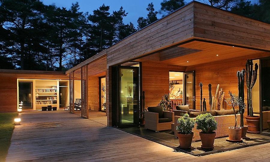 Foto casa de madera moderna de elenatorrente d az 991426 - Casa prefabricada navarra ...