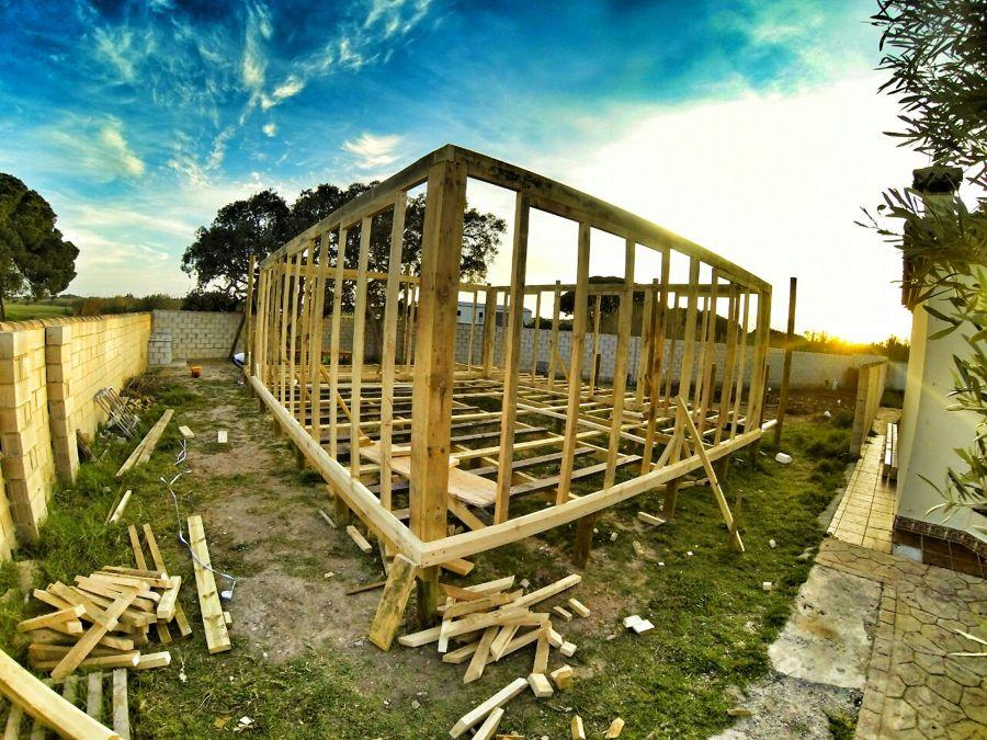 casa de madera, proceso de fabricación