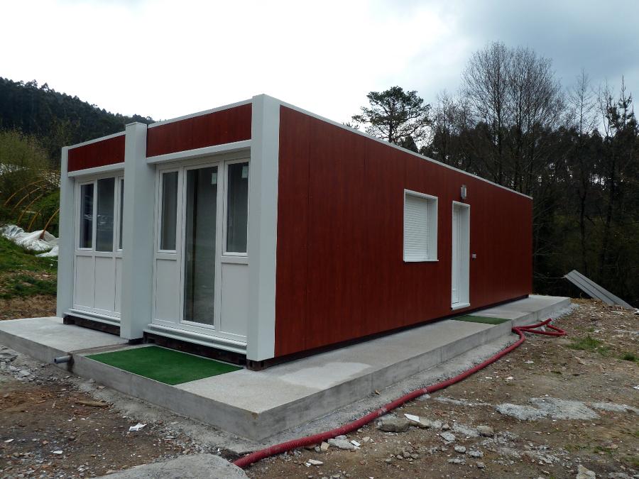 Contenhouse casa con contenedores maritimos en gamiz vizcaya ideas construcci n casas - Como hacer una casa con un contenedor maritimo ...