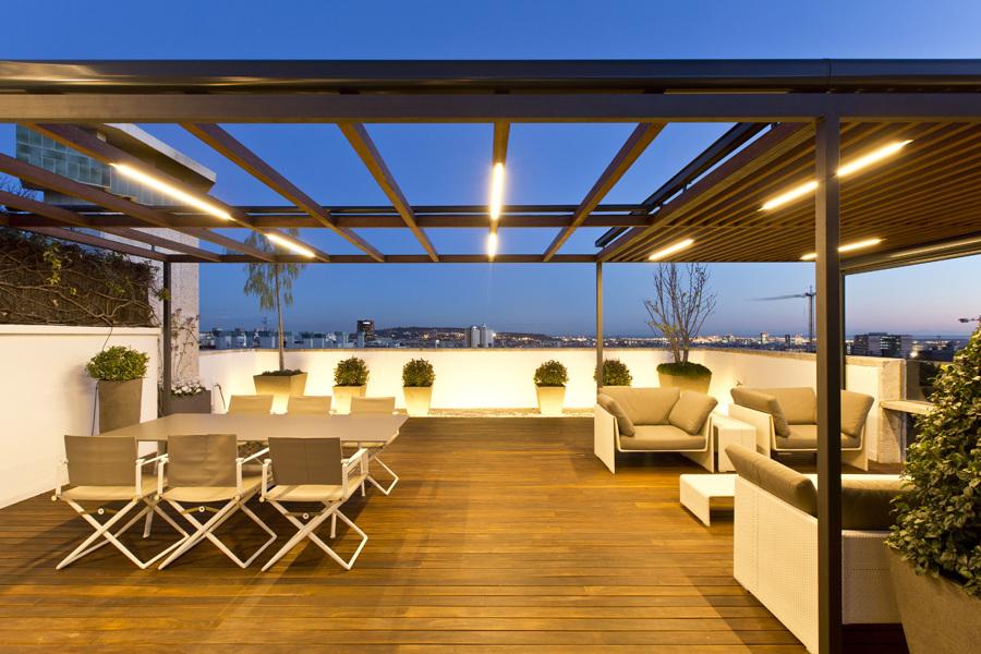Casa en pedralbes ideas arquitectos for Paisajismo terrazas