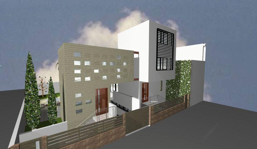 Foto casa estudio asp vista de fachada a la calle de for Casas modernas granada