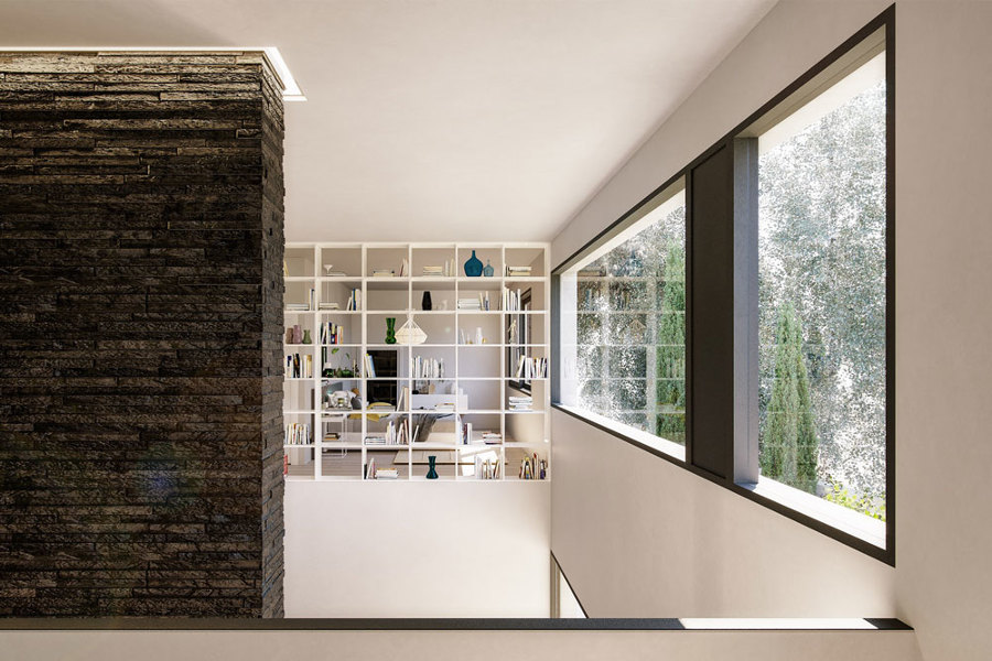 Casa Jardín - Interior Doble Altura