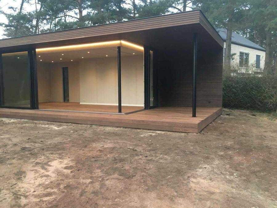 Casa madera cubo