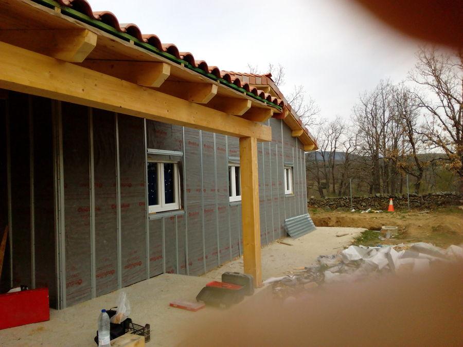 Casa prefabricada de madera tipo americana castell n - Construccion de casa prefabricadas ...