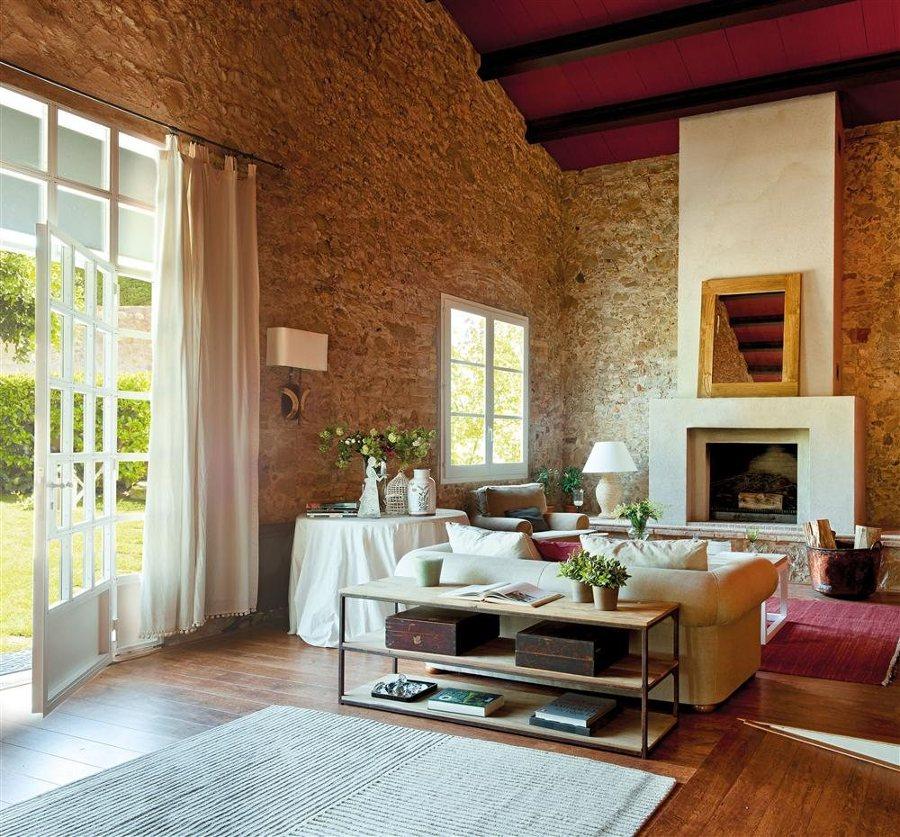 Foto casa rural con materiales naturales de elenatorrente - Decoracion para salones de casa ...