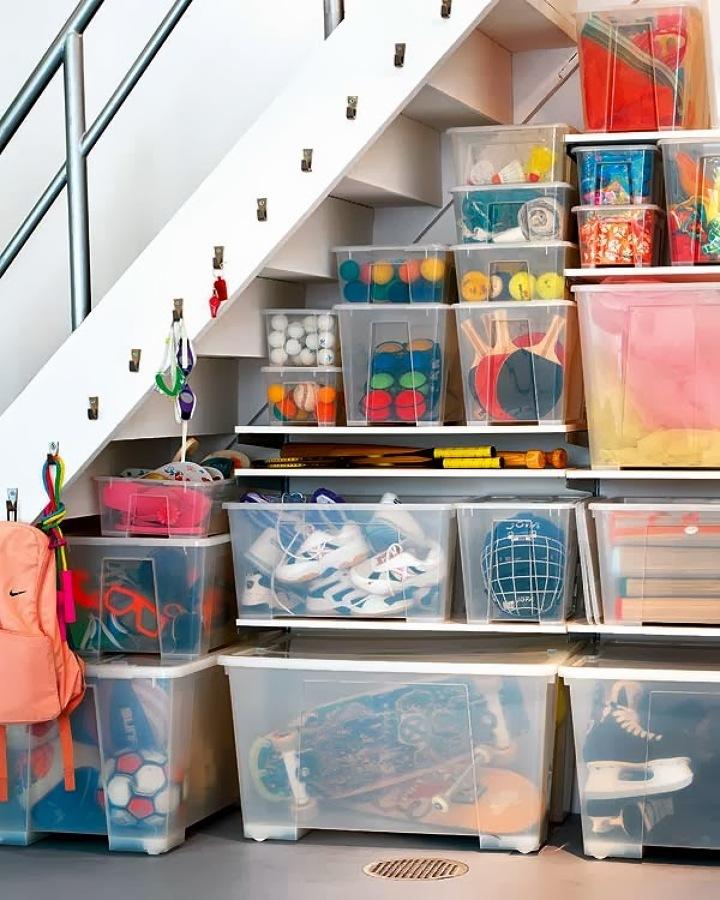 casas de plástico en trastero