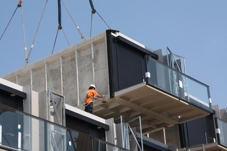 casas prefabricadas en construcción