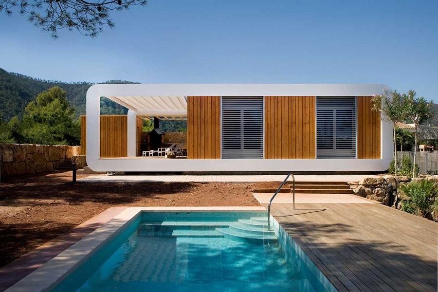 casa españa compuesta por varios tipos de módulos