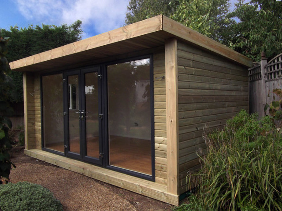 Techos p rgolas casetas casas de madera ideas - Caseta de madera para jardin ...