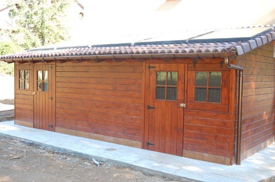 Foto caseta de madera de m san mart n de for Casetas de jardin grandes