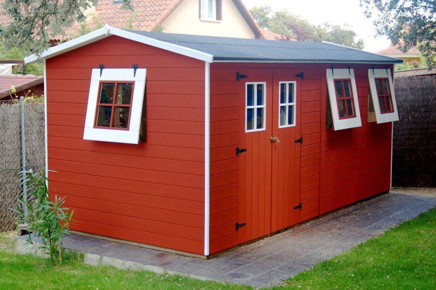 Foto caseta de madera estilo sueco m urb - Casetas prefabricadas para jardin ...