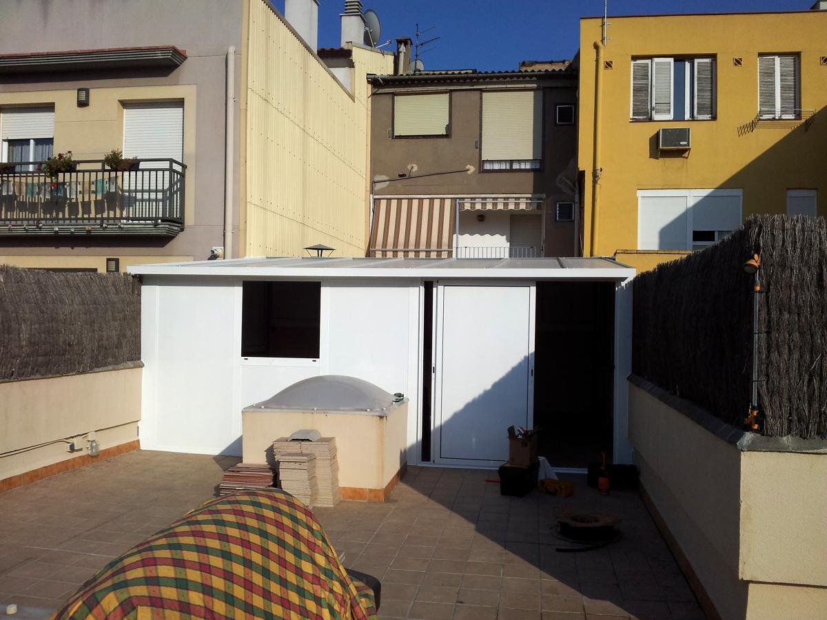 Caseta de aluminio ideas carpinter a aluminio for Casetas para terrazas