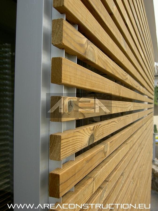Construcci n de una casa unifamiliar de 500 m2 de dise o - Celosia de madera para jardin ...