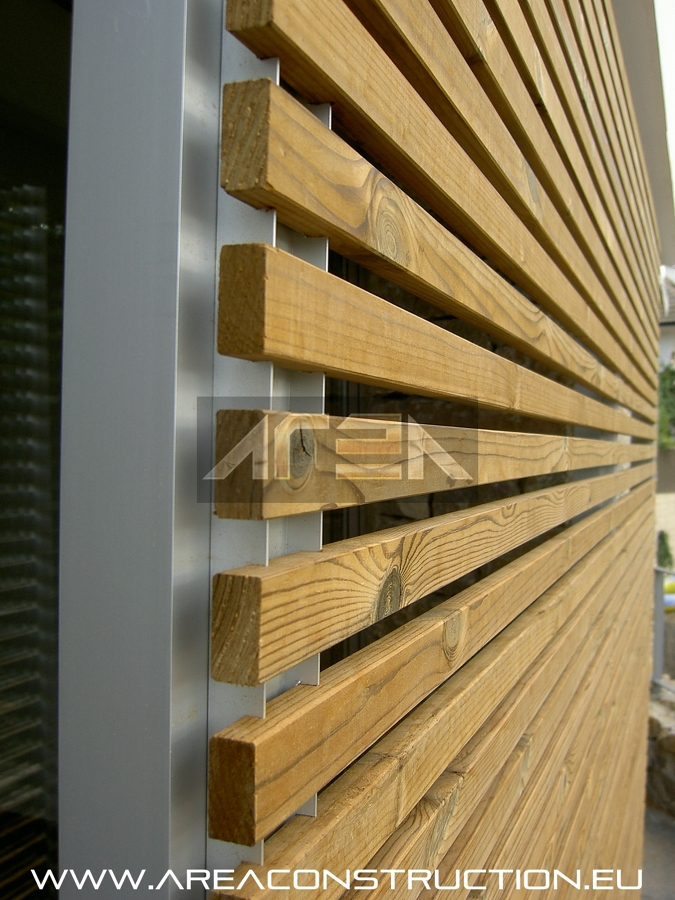 Construcci n de una casa unifamiliar de 500 m2 de dise o - Celosia de madera ...
