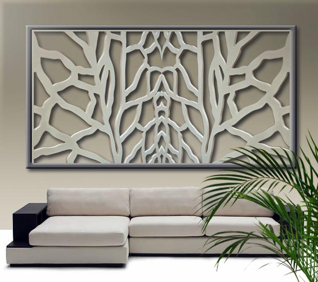 Celosía decorativa en pared de salón