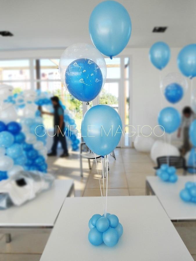 Las comuniones se acercan ideas decoradores - Centros de mesa con globos ...