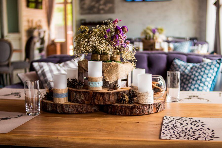 Centro de mesa natural