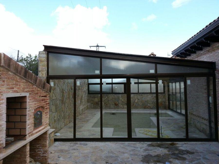 Foto cerramiento con aluminio para piscina de cerranavas - Cerramientos de escaleras ...