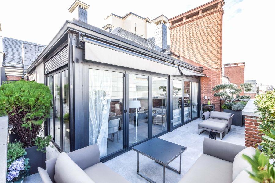 Cerramiento de alumino de terraza