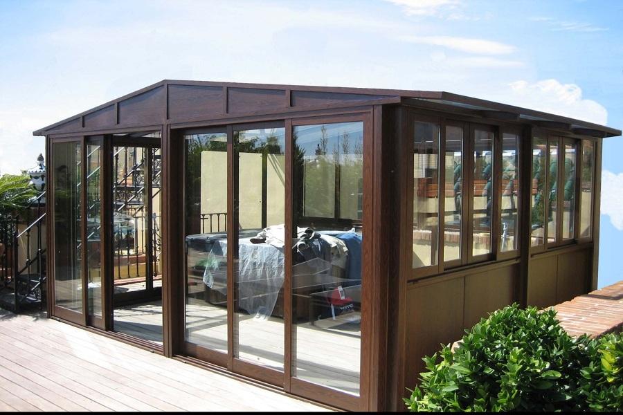 Cerramiento vista mar soleado en terraza con vistas for Cerramientos de jardines fotos