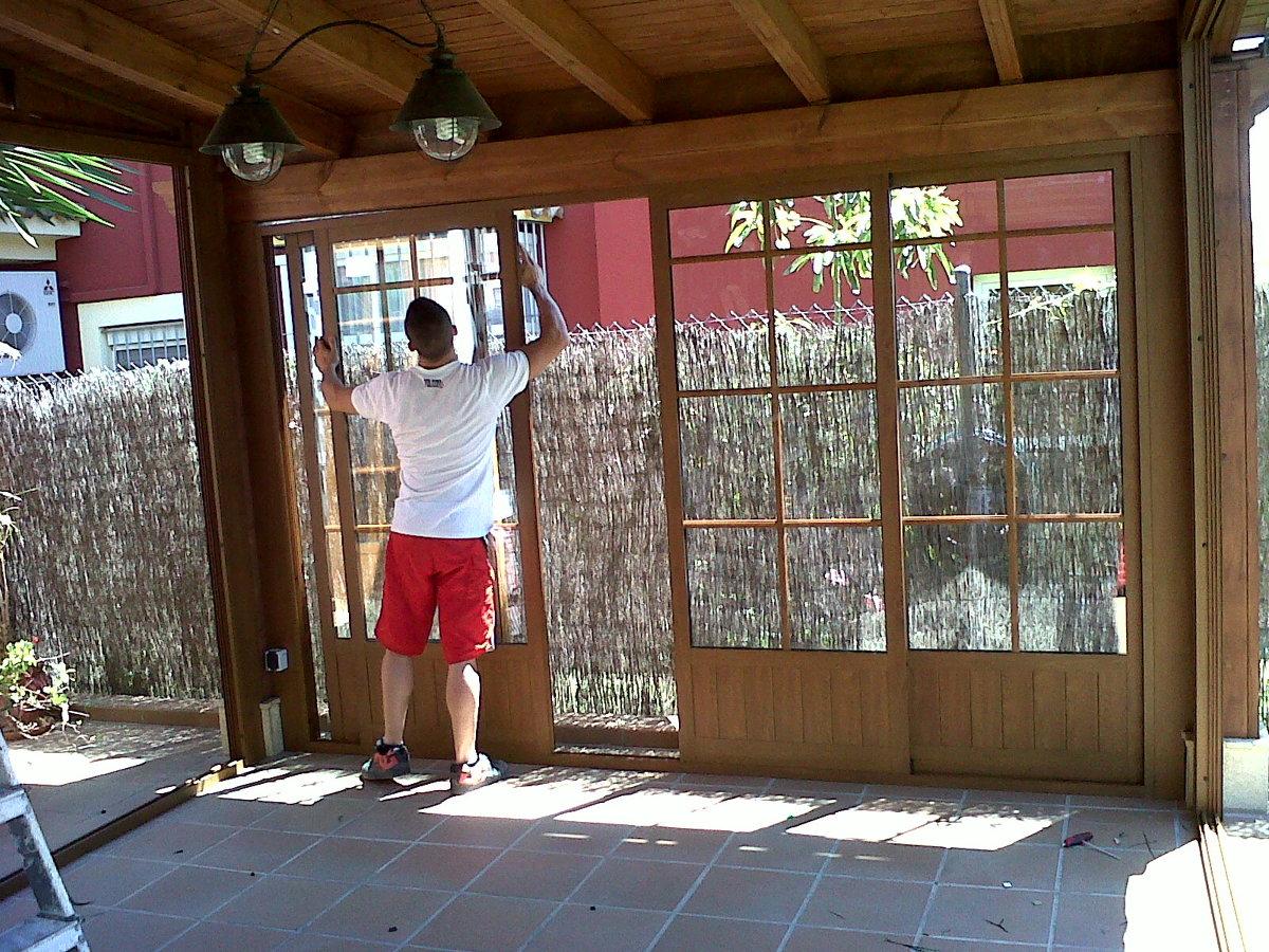 Foto cerramiento porche de cristalvent s l u 287594 for Cerramientos de jardines fotos