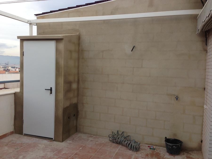 Cerramiento terraza y construcción armario
