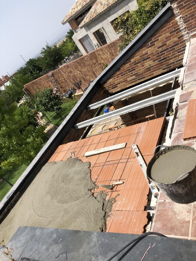 Cerrando el hueco de la terraza
