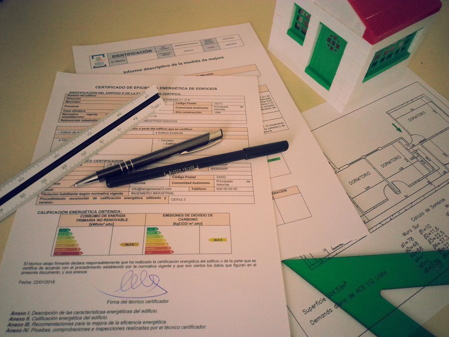 Certificado Energético. Documentos.