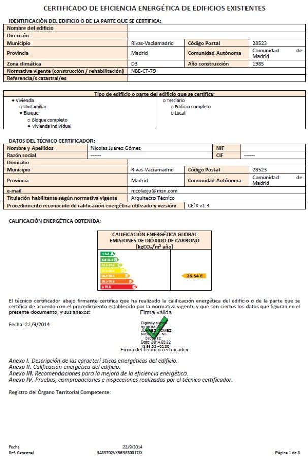 Foto certificado energ tico de certificados energ ticos for Certificado energetico en santander