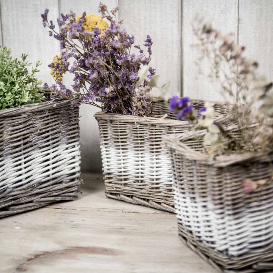 Cestos y cestas free cestos de ganchillo de diferentes for Como aprovechar una cesta de mimbre