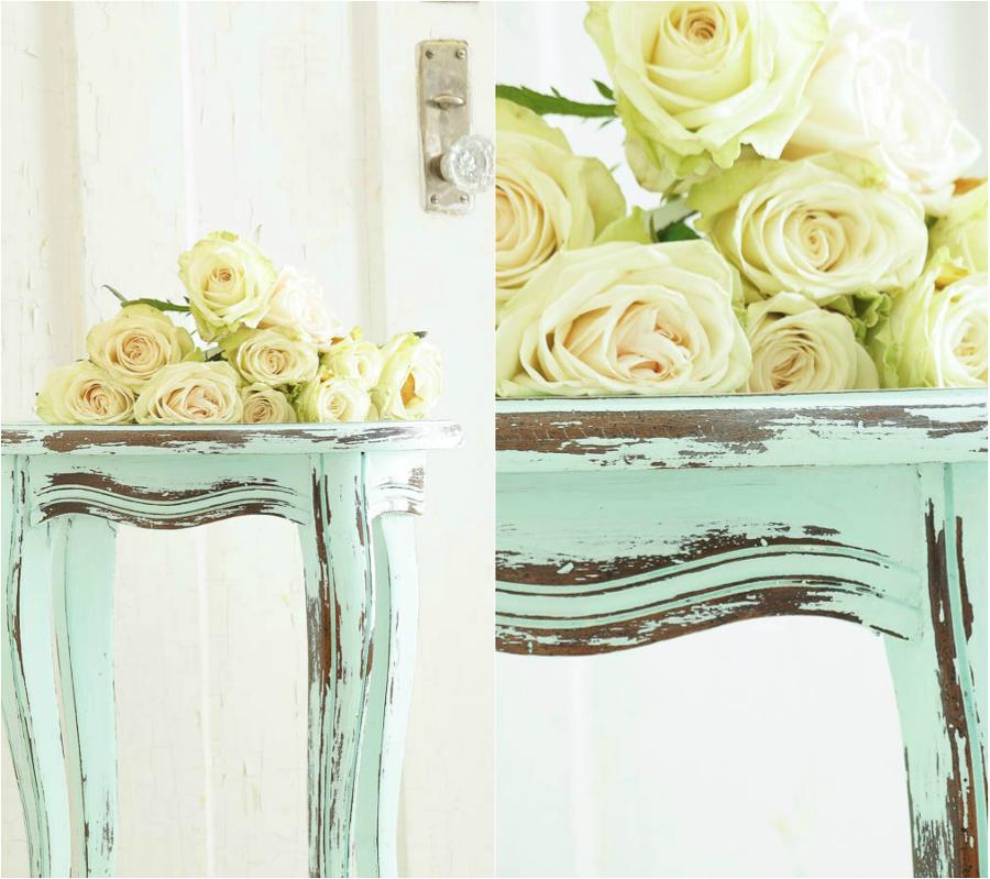 Chalk Paint en una mesa